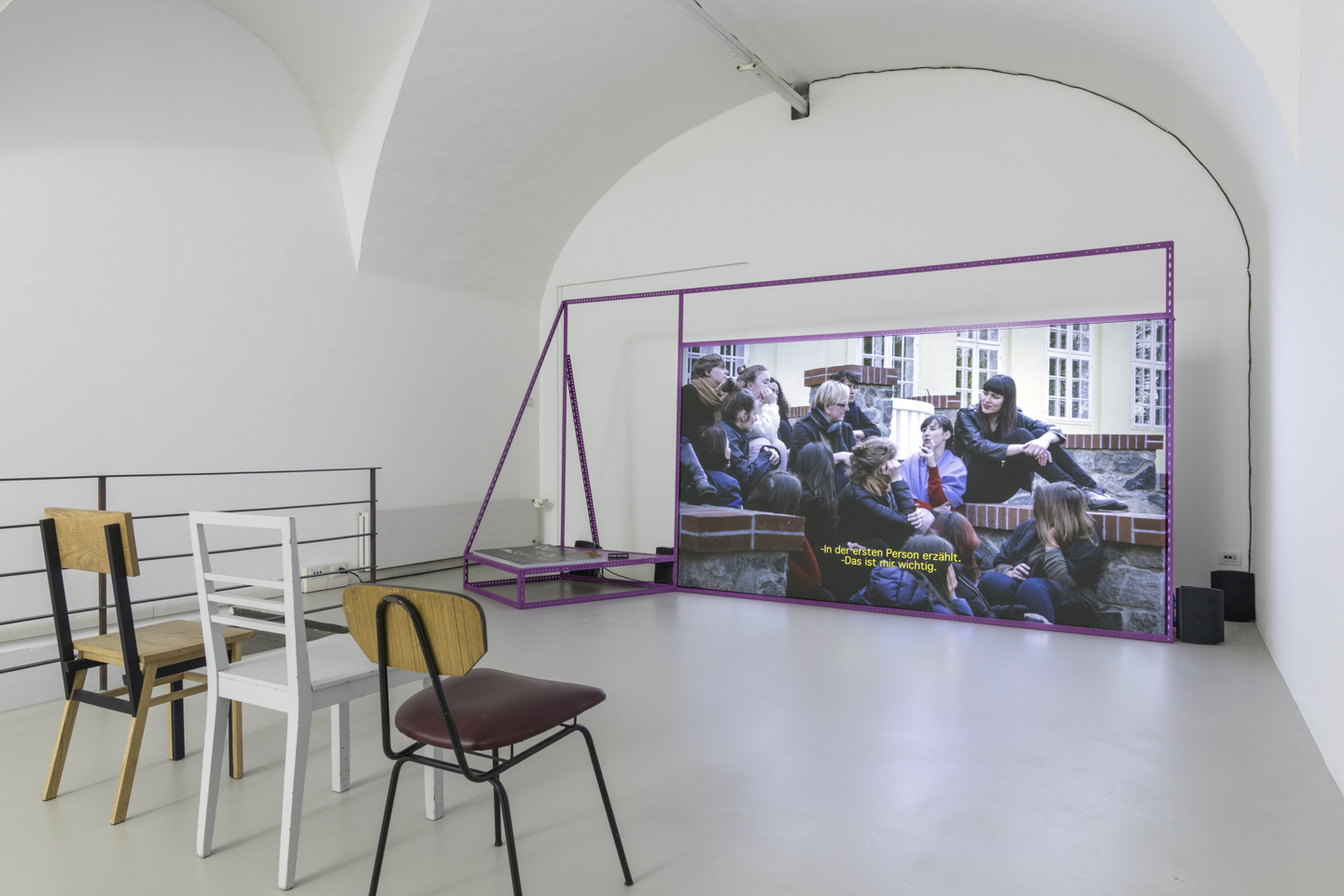 Alex Martinis Roe, To Become Two, installation of the exhibition at ar/ge kunst, ©ar/ge kunst, Bolzano, Foto Tiberio Sorvillo, 2017