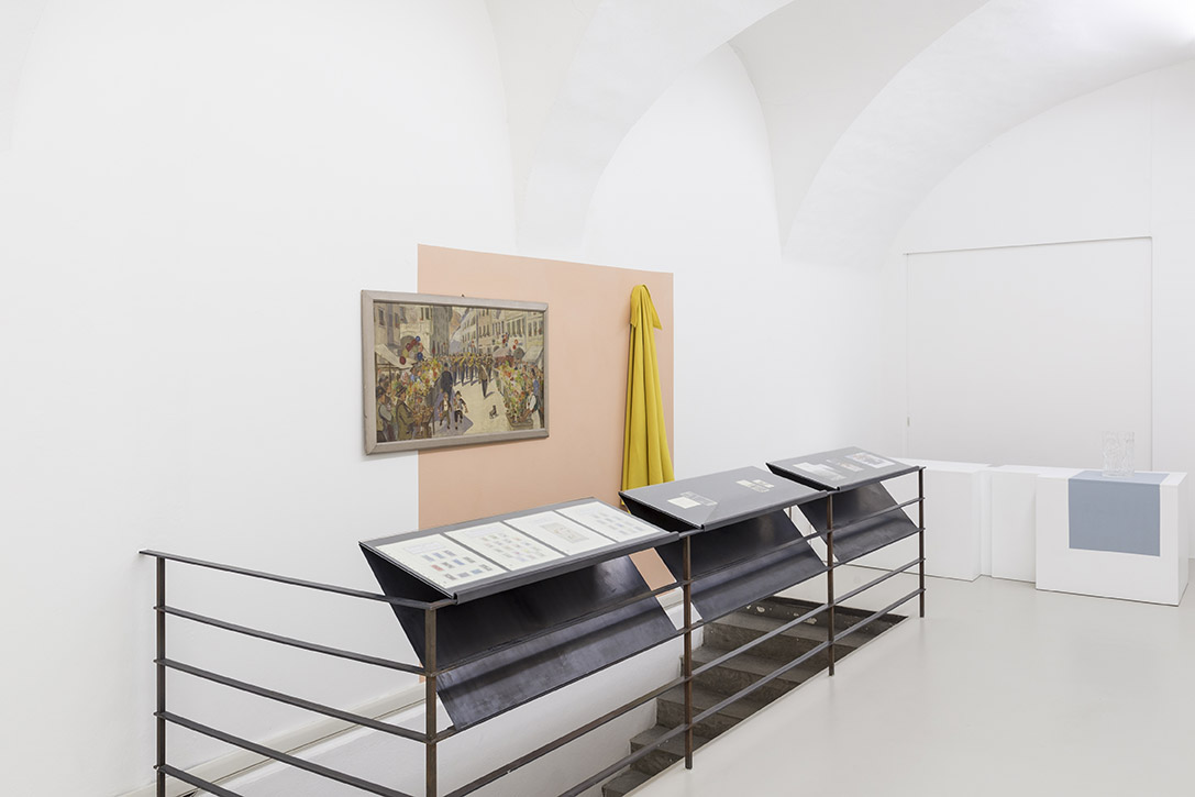 Paul Thuile, selection of the exhibition Serra III, curated by Paul Thuile at Gärtnerei Schullian Floricultura, installation view. Photo Guadagnini ©argekunst